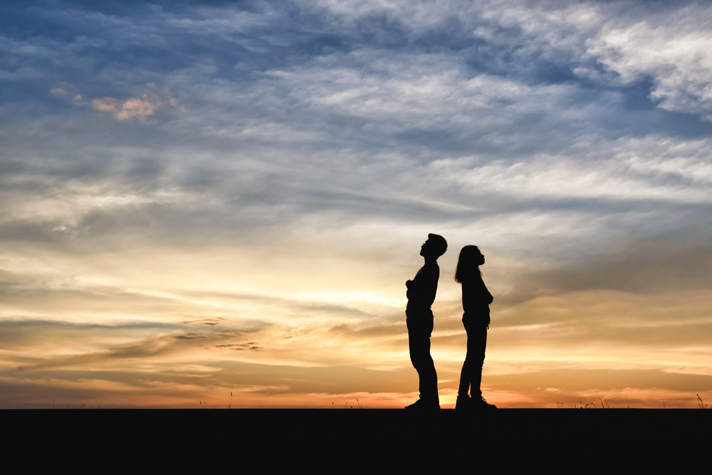 Divorce,Family,-,Silhouette,Of,Shadow,Couples.,Women,Dispute,With